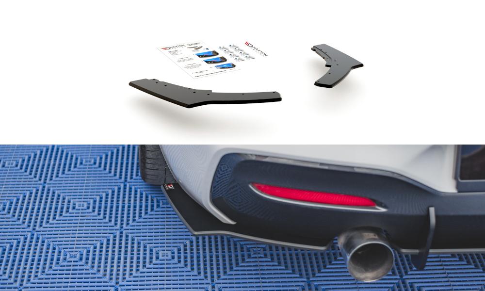 SPLITTERY TYLNE BOCZNE RACING DURABILITY V.2 BMW 1 F20 M-PACK FACELIFT / M140I - GRUBYGARAGE - Sklep Tuningowy